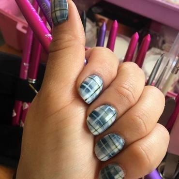 Tartan nail art by Ro Ags
