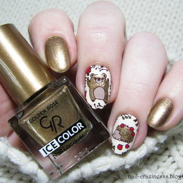 Autumn animals nail art by Nail Crazinesss