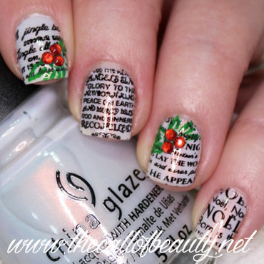 Christmas Carols nail art by The Call of Beauty