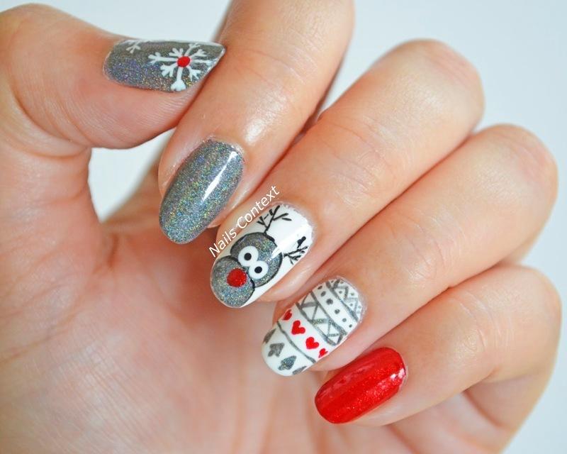 Reindeer Nails  nail art by NailsContext