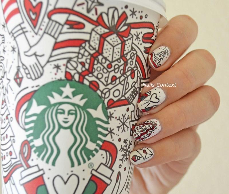 Starbucks Cup nail art by NailsContext