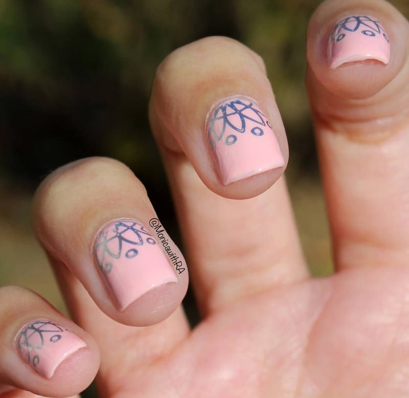 Simple Silver Bridal nails nail art by Monica