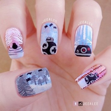 BB-9E Nails nail art by JeeA Lee