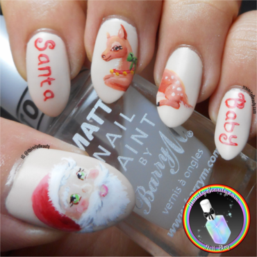 Santa Baby nail art by Ithfifi Williams