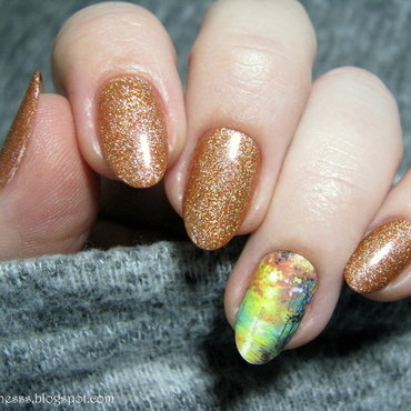 Leonid Afremov inspired nail art by Nail Crazinesss