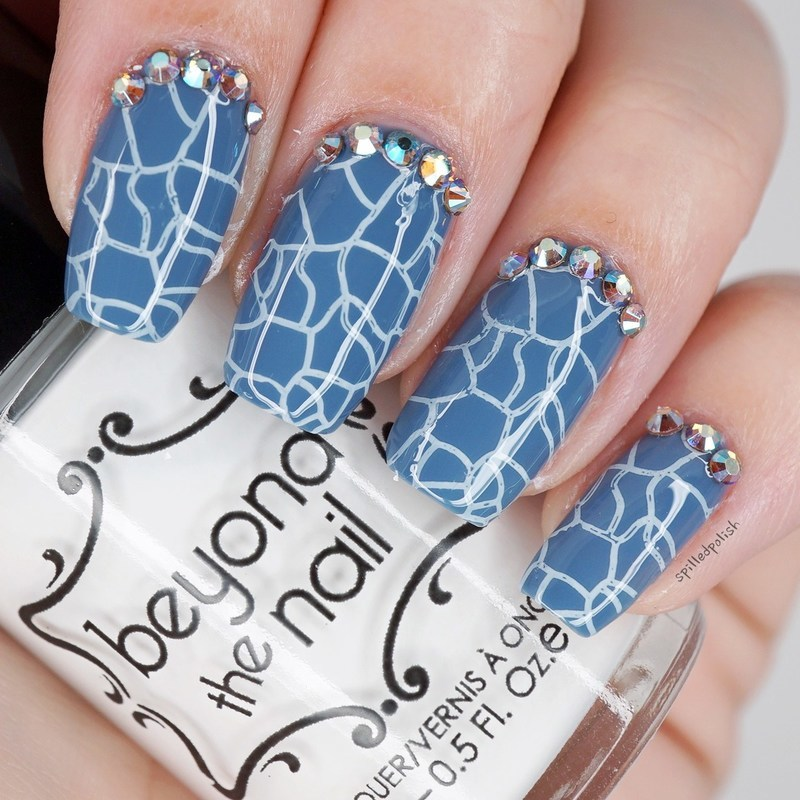 Cracked Blue Nails nail art by Maddy S