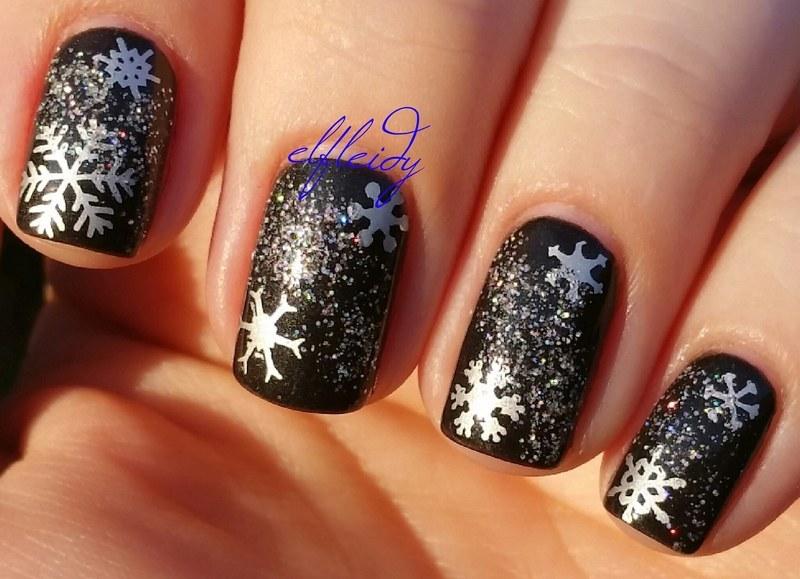 More snowflakes nail art by Jenette Maitland-Tomblin