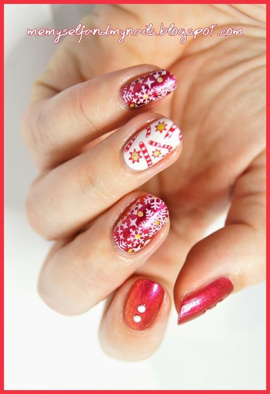X-mas time nail art by ELIZA OK-W