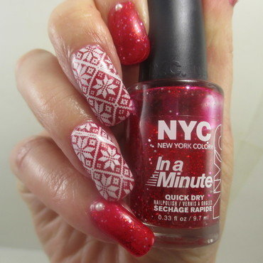 Christmas Glitter Sweater nail art by NinaB