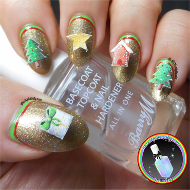 3D Christmas Pop Up Cards nail art by Ithfifi Williams