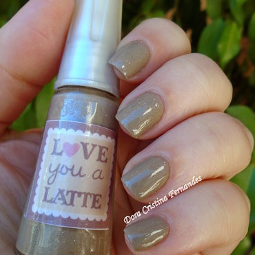 Franken Nail Polish Love You a Latte Swatch by Dora Cristina Fernandes