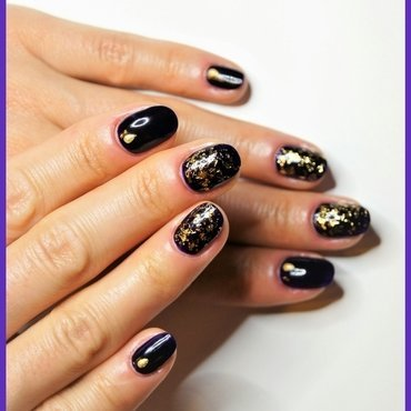 New Year's Eve nail art by ELIZA OK-W
