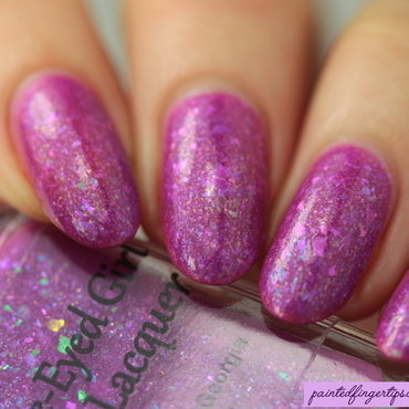 Blue-Eyed Girl Lacquer The Corundum Conundrum Swatch by Kerry_Fingertips