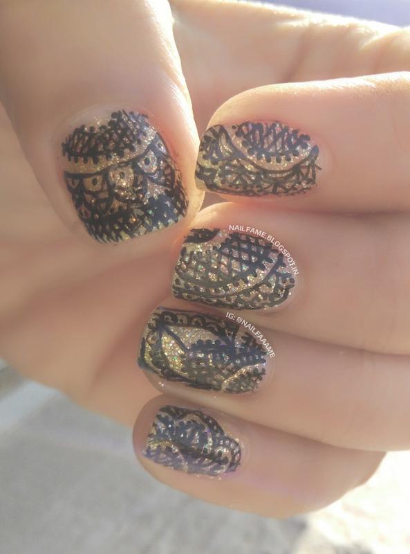 LACE nail art by Nailfame