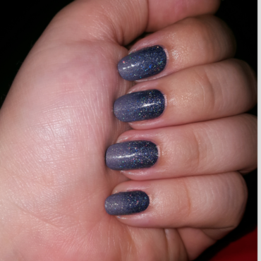 Midnight Sparkle nail art by jlenarz