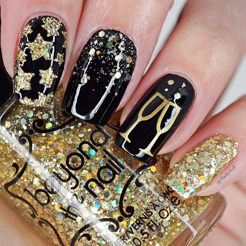 New Years 2018 nail art by Maddy S - Nailpolis: Museum of Nail Art