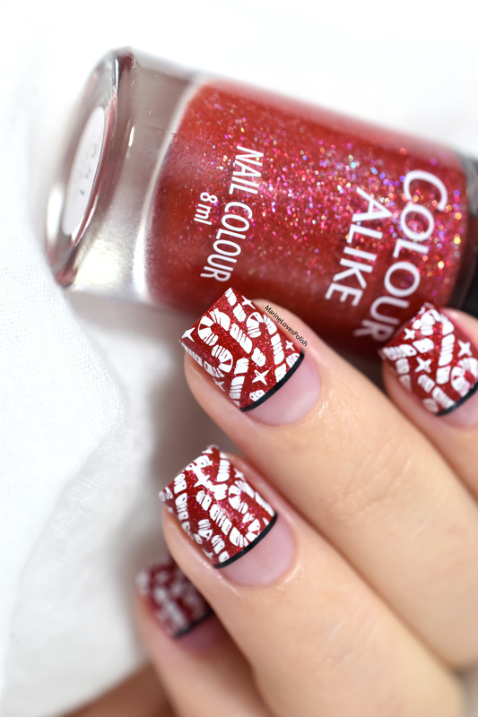 Candy canes! nail art by Marine Loves Polish
