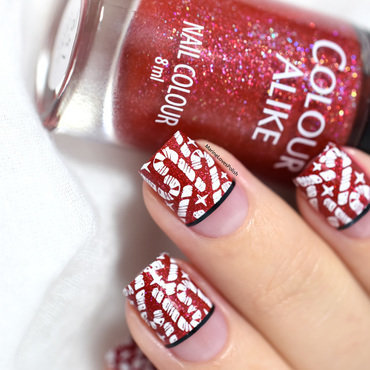 Candy cane christmas nail art 20 1  thumb370f