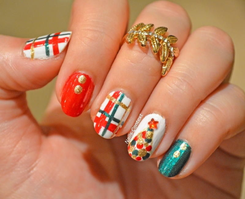 Christmas Tree Nails  nail art by NailsContext