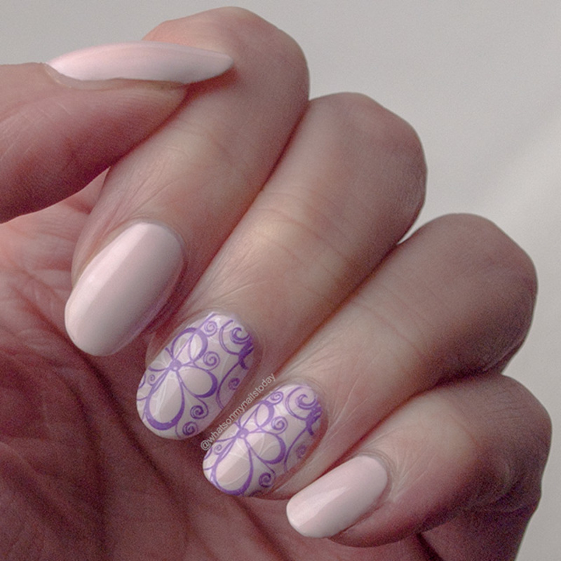 #52weeknailchallenge - week 1: Pink + Purple nail art by What's on my nails today?