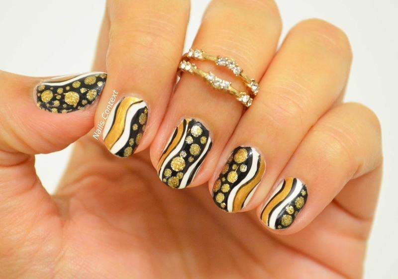 Happy New Year nail art by NailsContext