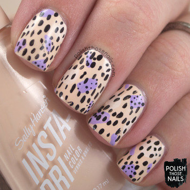 Sally hansen champagne supernova pattern nail art 4 thumb370f