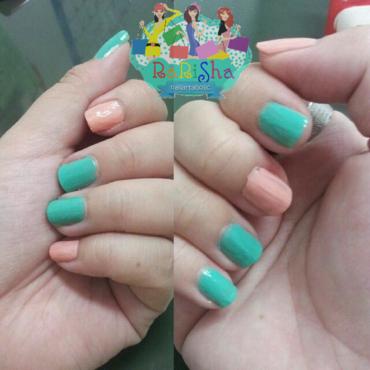 Tosca-pink pastel nail art by RaRiSha