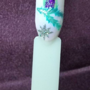 Candle  nail art by Anna
