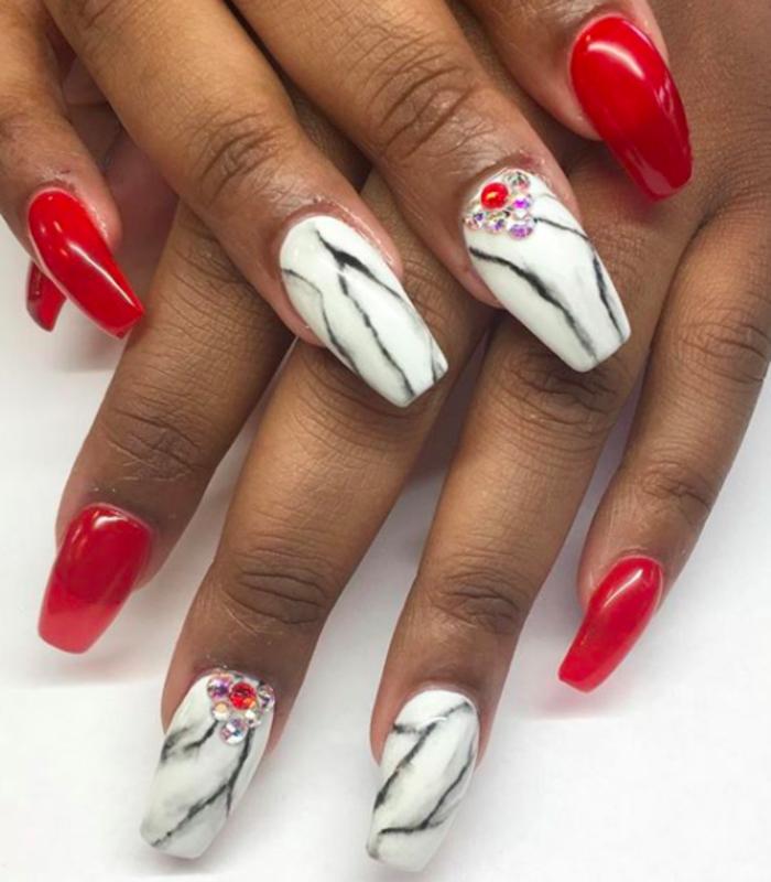 marble nail art by Kristen Lovett