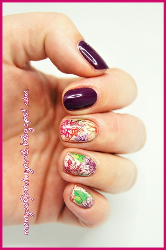 flowery nail art by ELIZA OK-W