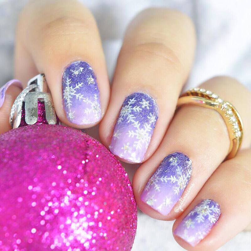 Purple Crush  nail art by ℐustine