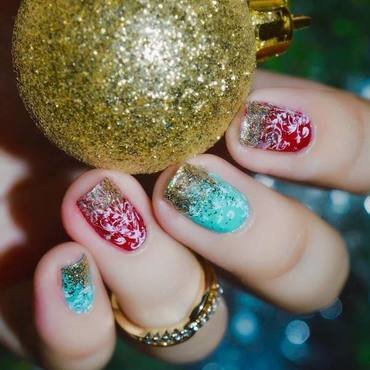 Merry and Blessed nail art by ℐustine