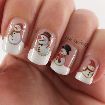 Snowmen Nails nail art by Make Nail Art