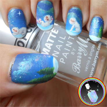 Yeti Babies nail art by Ithfifi Williams