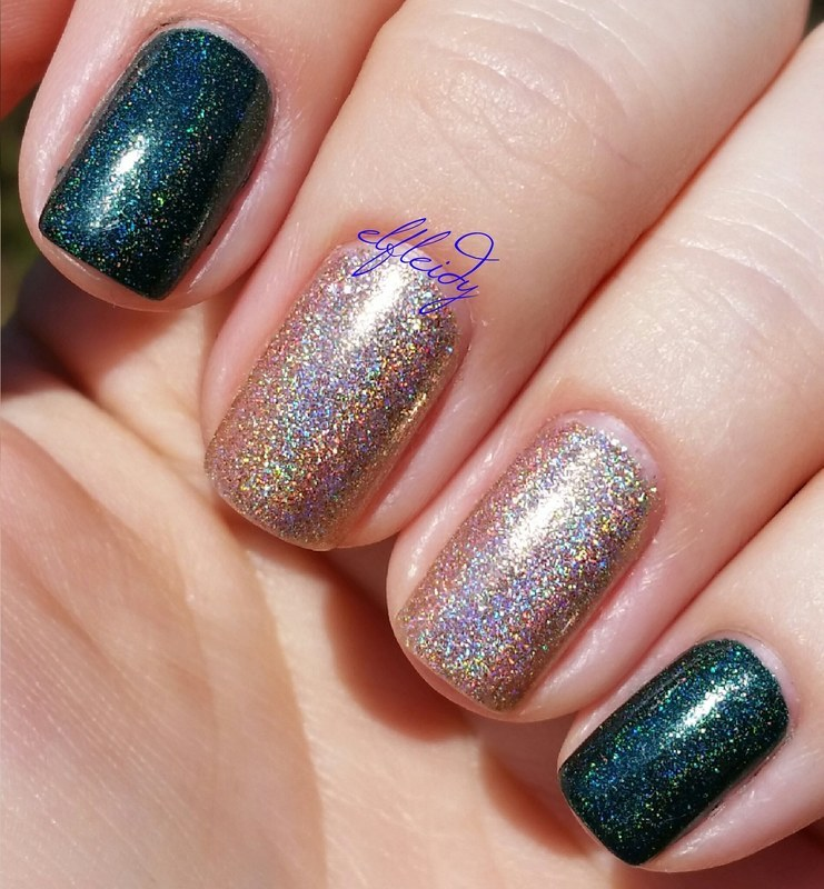 Cupcake Polish Bubbles and Baubles and Cupcake Polish Dragon Scales Swatch by Jenette Maitland-Tomblin