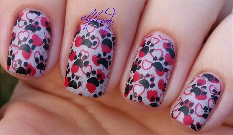 Paw Prints nail art by Jenette Maitland-Tomblin