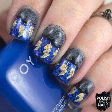 Blue glitter thunder lightning storm nail art 4 thumb370f