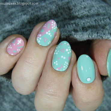 Jelly Bear Hair inspired nail art by Nail Crazinesss