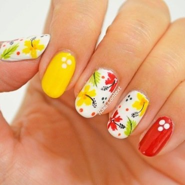 Hibiscus Nails  nail art by NailsContext