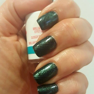Black...and Blue nail art by Katarinna