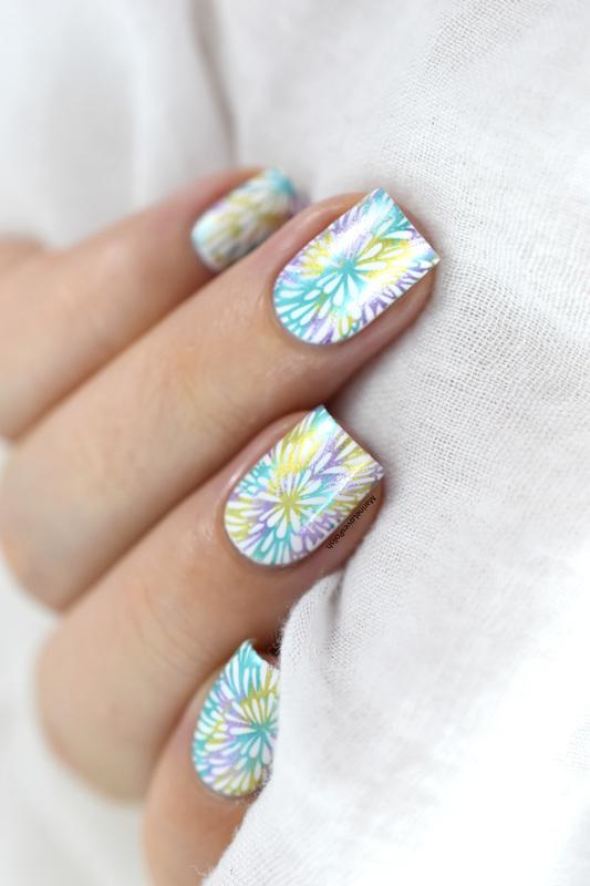 Tie & Dye nail art by Marine Loves Polish
