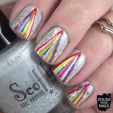 Geo Glitter Fall nail art by Marisa  Cavanaugh