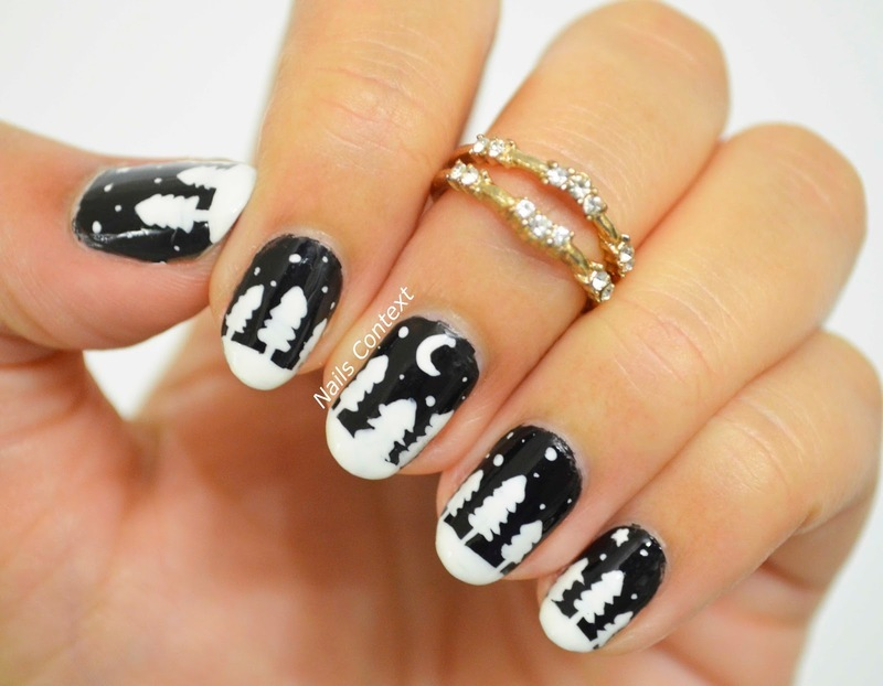 Winter Night nail art by NailsContext