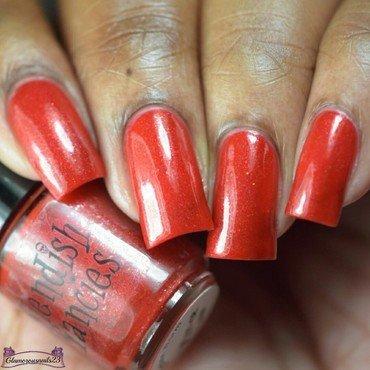 Fiendish Fancies Crimson Worm Swatch by glamorousnails23