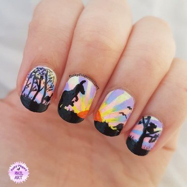 Aussie nails nail art by Funky fingers nail art