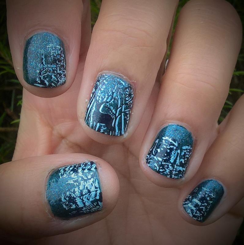 Winter for #aznailartchallenge nail art by Avesur Europa