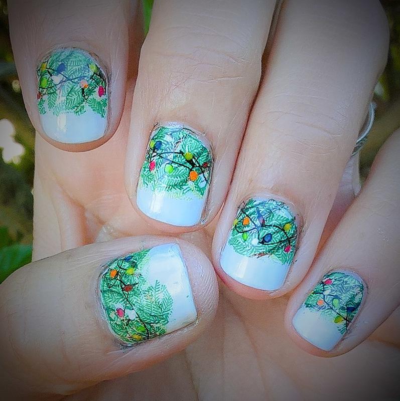 X-mas manicure for #aznailartchallenge nail art by Avesur Europa