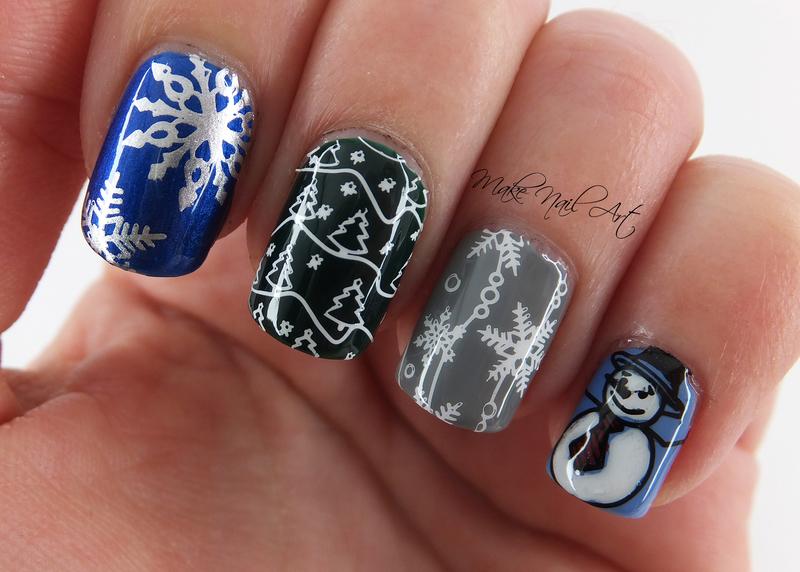 Winter Vibes Nails nail art by Make Nail Art
