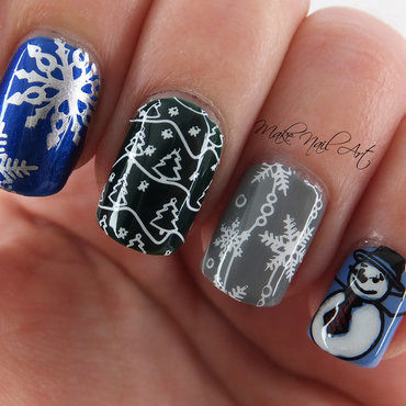 Winter Vibes Nails nail art by Make Nail Art