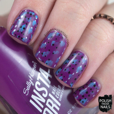 Long Live Va-Va Violet nail art by Marisa  Cavanaugh